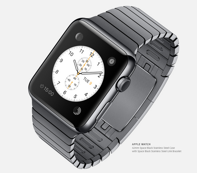 The face of the new Apple Watch