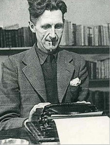 George-Orwell-at-his-typewriter