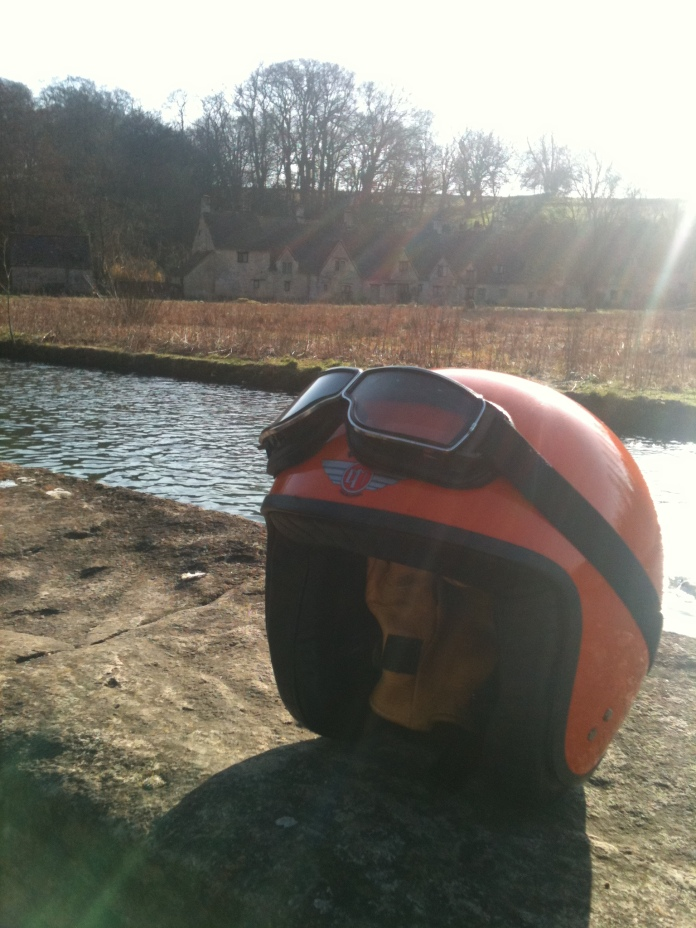 Orange helmet at BIbury